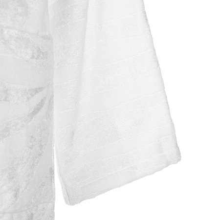 Roberto Cavalli - Zebrage Shawl Bathrobe - White
