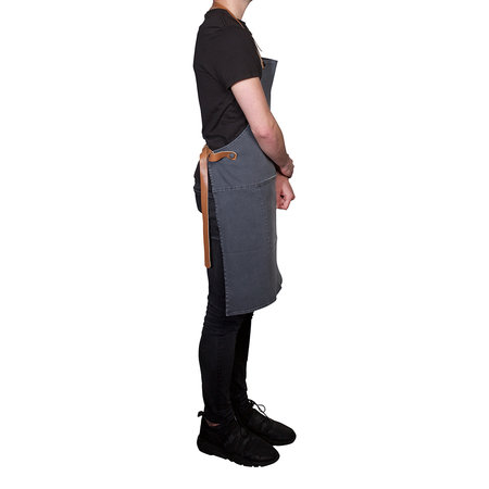DutchDeluxes - BBQ Style Denim Apron - Washed Grey