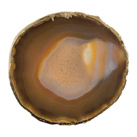 A by Amara - Agate Coasters - Set of 4 - Brown