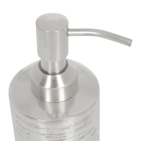 A by AMARA - Antique Silver Textured Soap Dispenser