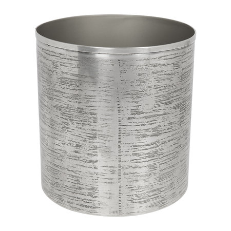 Retreat - Antique Silver Textured Waste Bin