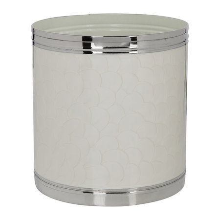 Luxe - Ivory & Nickel Waste Bin