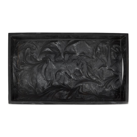 A by Amara - Marbled Resin Tray - Black