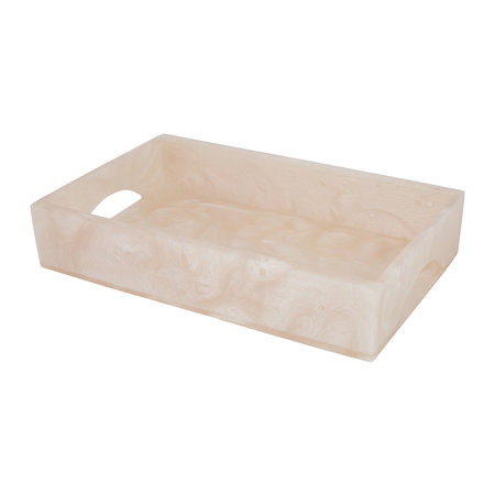Luxe - Marbled Resin Tray - Ivory