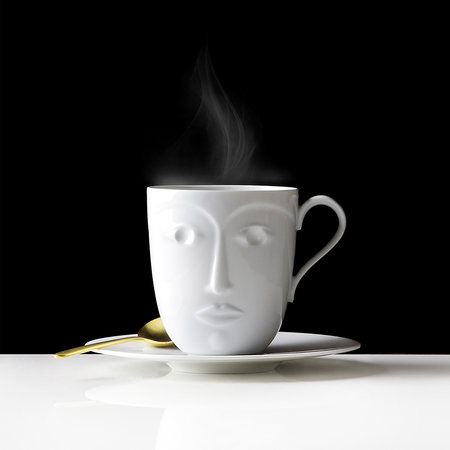 Sieger by Furstenberg - Objects to a Muse Hot Mug - White