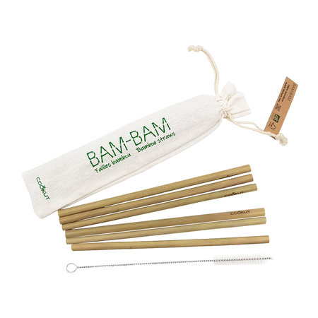 Cookut - Bam Bam Bamboo Straws - Set of 6
