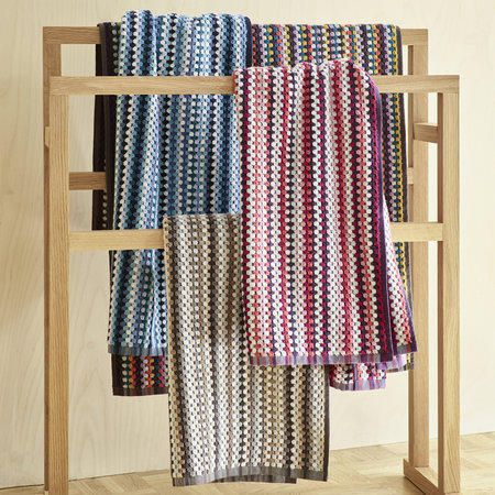 Christy - Carnaby Stripe Towel - Berry - Bath Sheet