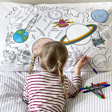 Eat Sleep Doodle - Space Explorer Pillowcase - 75x50cm
