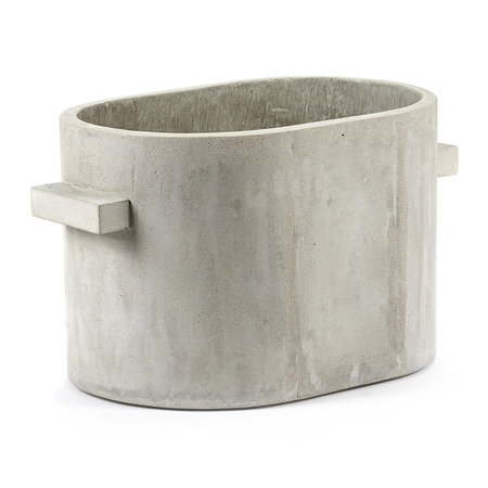 Serax - Concrete Oval Plant Pot - Gray - Small