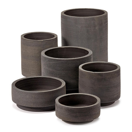 Serax - Cylinder Plant Pot - Black - Large
