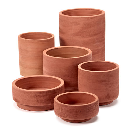 Serax - Cylinder Plant Pot - Red - Small