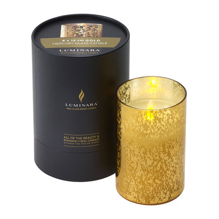 Luminara - Mercury Glass LED Candle - Gold - 13cm