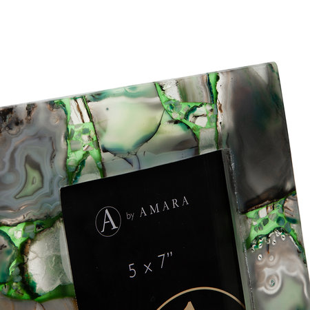 A by AMARA - Agate Photo Frame - 5x7 - Green