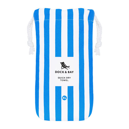 Dock & Bay - Cabana Beach Towel - Bondi Blue