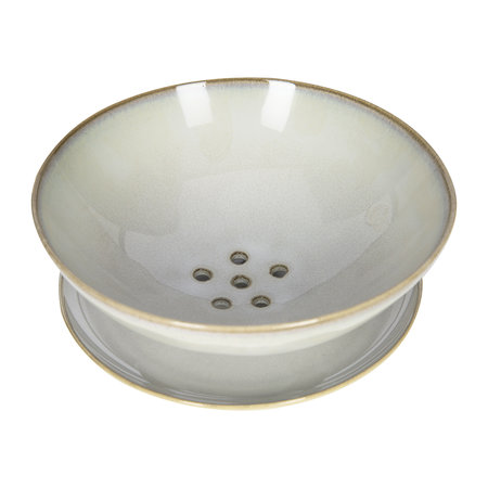 Serax - Light Gray Ceramic Colander with Plate - Small