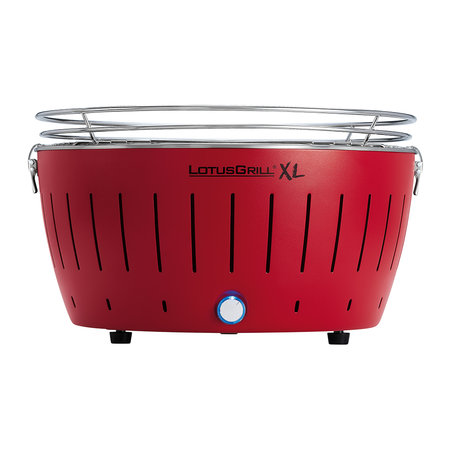 Lotus Grill - Portable Charcoal Grill - XL - Red