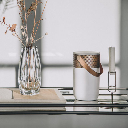 KREAFUNK - aGlow Bluetooth Speaker - White with Rose Gold Front