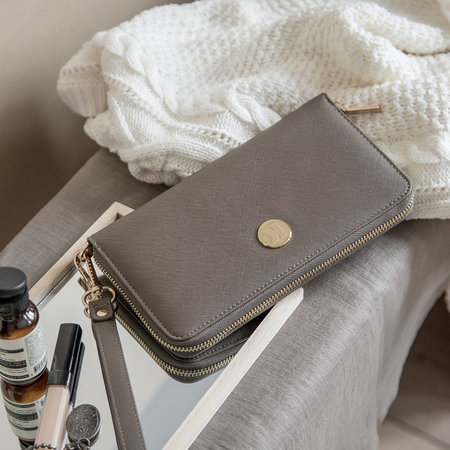 KREAFUNK - cPurse with Power Bank - Warm Grey