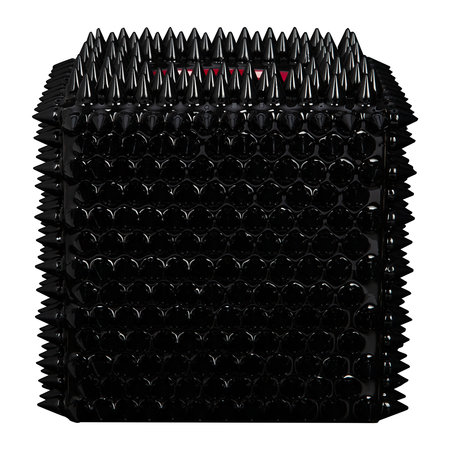 Mike + Ally - Spikes Tissue Box - Black/Red