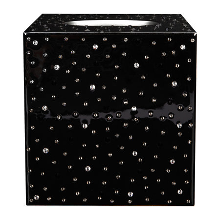 Mike + Ally - Stardust Tissue Box - Black/Silver