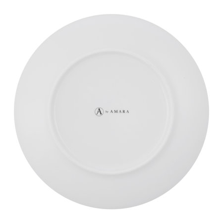 A by AMARA - Gunnison Porcelain Side Plates - Set of 4 - Silver