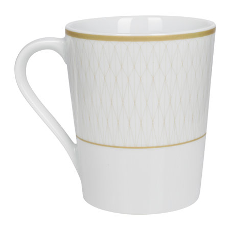 A by AMARA - Prism Porcelain Mugs - Set of 4 - Gold