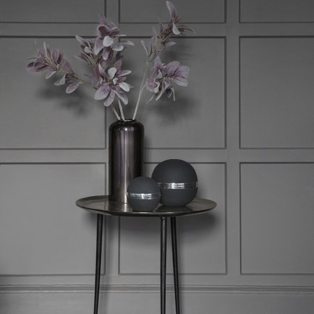 A by AMARA - Nickel Plated Black Vase