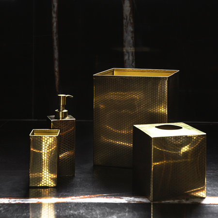 Luxe - Antique Gold Honeycomb Toothbrush Holder