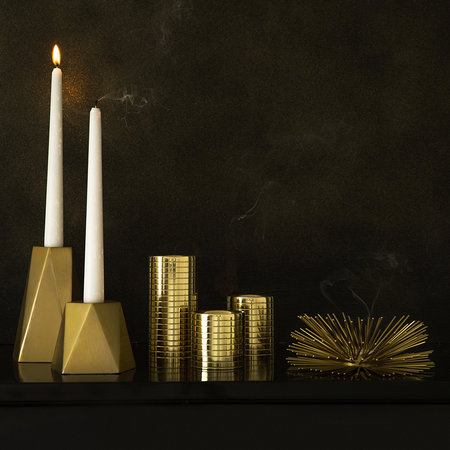 A by AMARA - Gold Geo Candlestick - Large