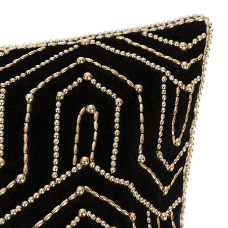 A by Amara - Beaded Art Deco Pillow - 45x45cm
