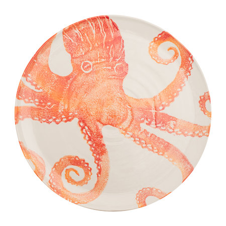Bliss Home - Creatures Large Octopus Platter - Orange