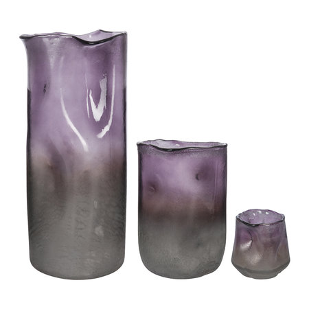 A by Amara - Purple Omber Melted Vase - Large