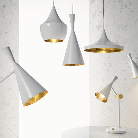 Tom Dixon - Lampe de Table Beat - Blanc