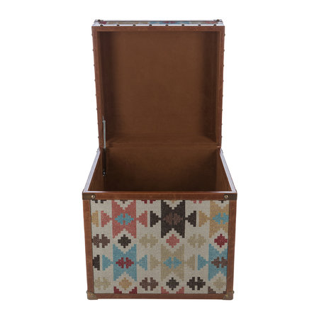 A by Amara - Aztec Leather Chest - Small
