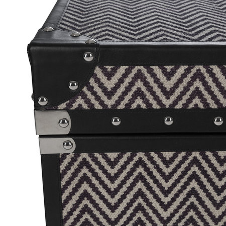 Global Explorer - Zigzag Leather Chest - Large