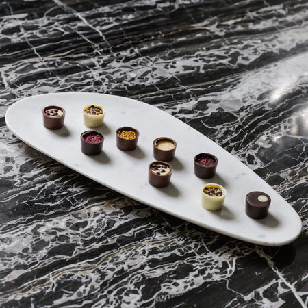 A by Amara - Marble Food Platter - White