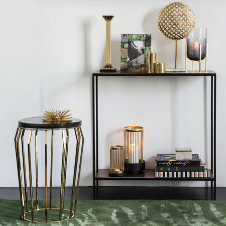 A by AMARA - Smoked Glass Round Side Table