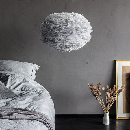 UMAGE - Eos Feather Lamp Shade - Grey - Large