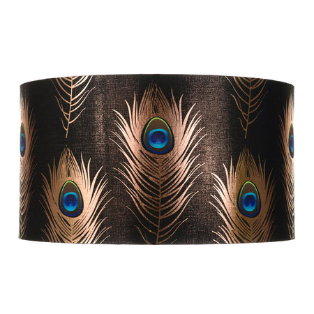 MINDTHEGAP - Peacock Feathers Drum Lamp Shade - Large