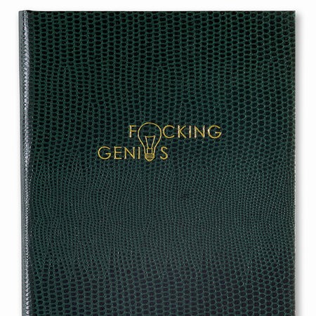 Sloane Stationery - A6 Notebook - 'F*cking Genius'