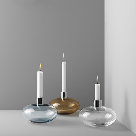 Orrefors Kosta Boda - Pluto Glass Candle Holder - Clear