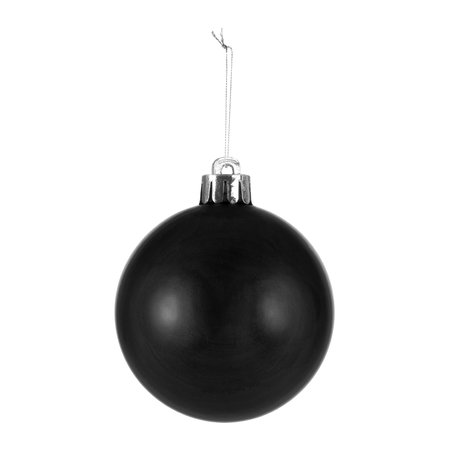 A by AMARA Christmas - Set of 33 Assorted Baubles and Tree Topper - Black