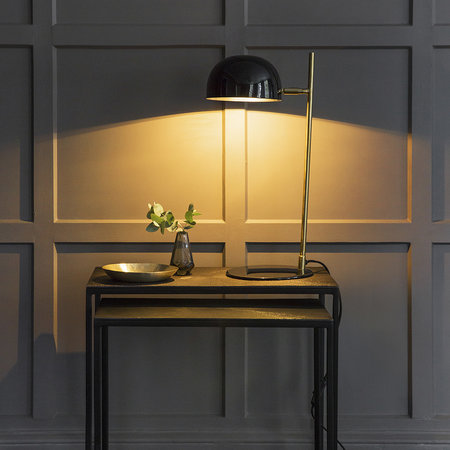 Luxe - Black & Gold Domed Table Lamp