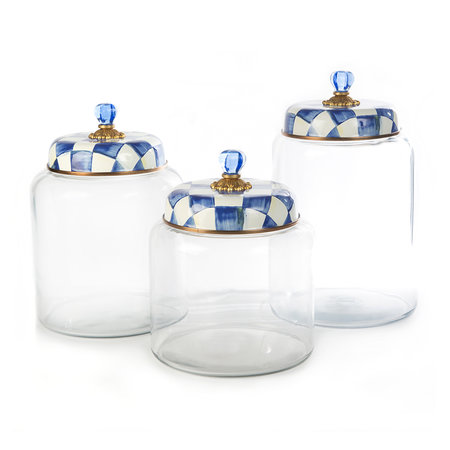 MacKenzie-Childs - Check Storage Canister - Biggest - Royal Check
