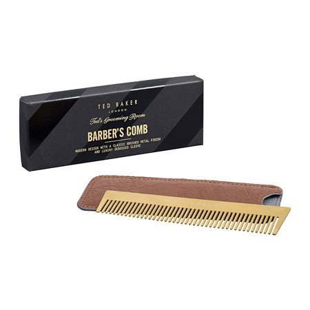 Ted Baker - Barber's Comb with Case - Brown
