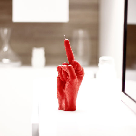 Candle Hands - Bougie « Fcuk you » - Rouge