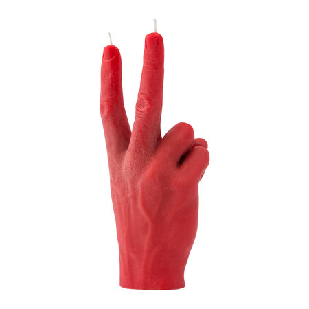 Candle Hands - 'Victory' Candle - Red