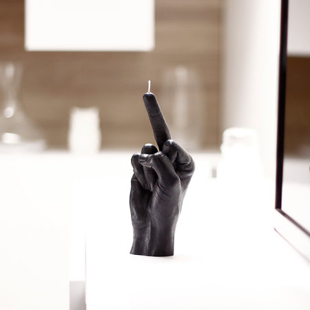 Candle Hands - 'Fcuk you' Candle - Black