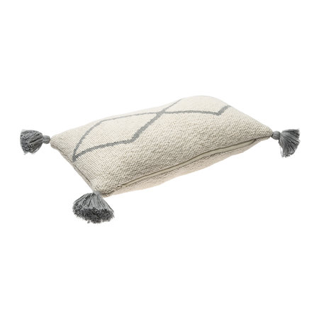 Lorena Canals - Little Oasis Knitted Cushion - 25x40cm - Grey