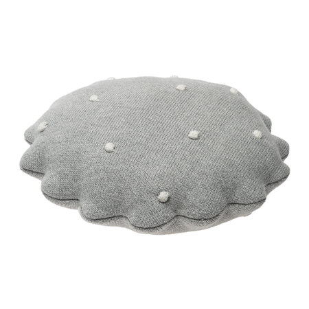 Lorena Canals - Round Biscuit Knitted Pillow - Gray